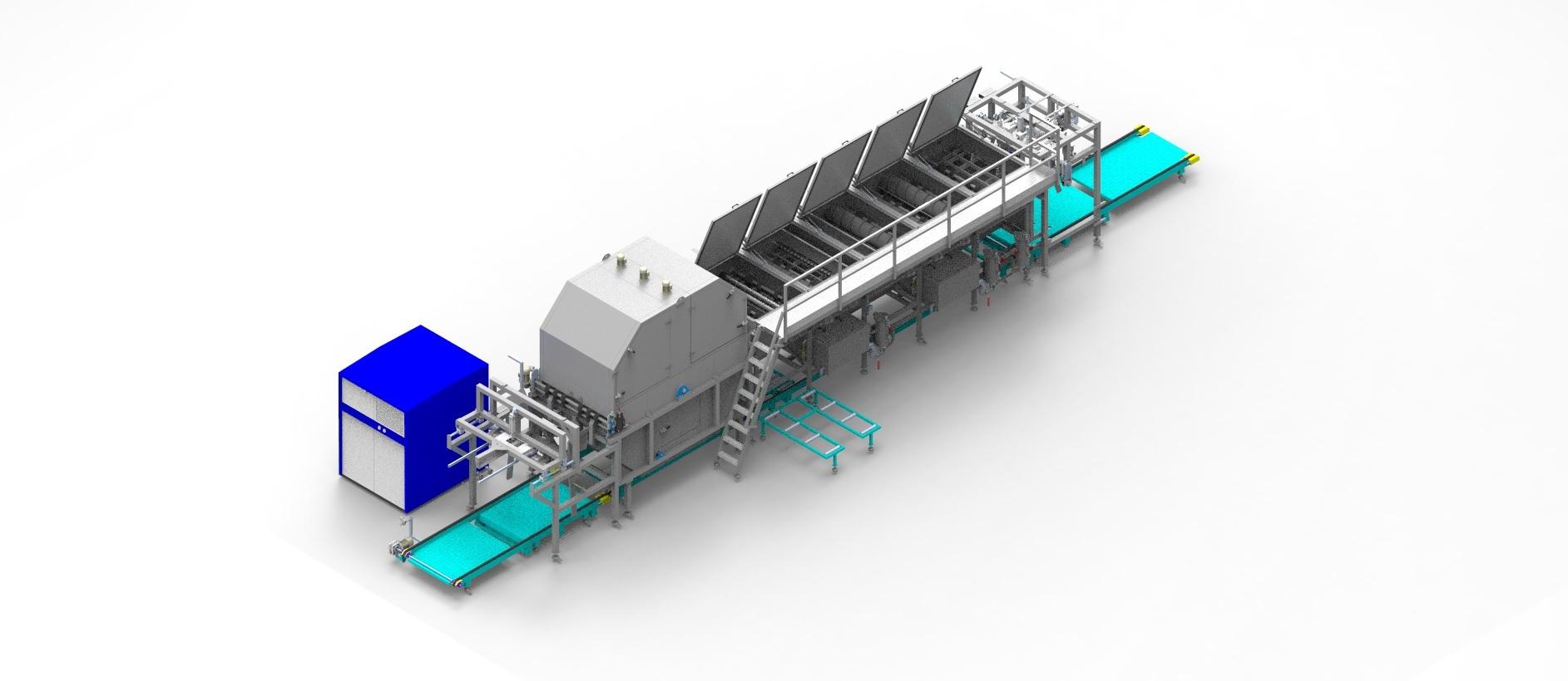 Plastic Layer Pad Washing Machine Fully Automated 1