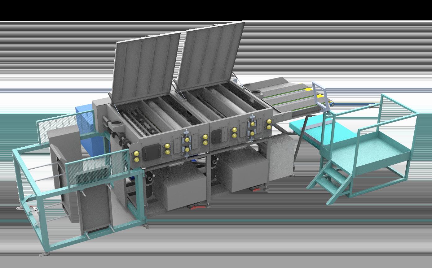 Plastic Layer Pad Washing Machine Semi Automated
